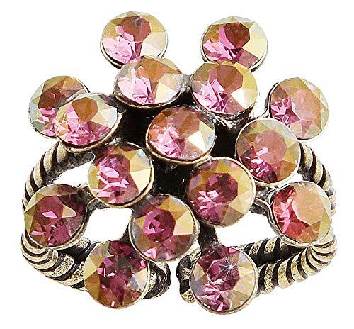 Konplott Fingerring Magic Fireball Mini brass lila crystal lilac shadow