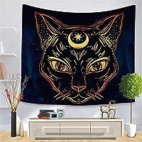 ブラックゴールド動物タペストリークロスボーダーゴールデンパターンシリーズ吊り布家の装飾桃肌背景布-スタイルセブン_150 * 210cm
