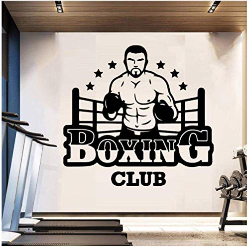 Boxing Club Wall Vinyl Wall Stickers Club Decor Girls Bedroom Sticker for Gym Company Decoración Mural Poster Decal 43x40cm
