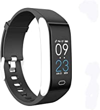 Laxcido Fitness Tracker HR, Activity Watch with Blood Pressure Heart Rate Sleep Monitor 14 Mode, Pedometer Step Counter Call SMS Notification Calorie Waterproof Bracelet Tracking for Women Men