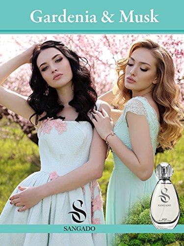 SANGADO Gardenia und Moschus Parfüm für Damen, 8-10 Stunden Langanhaltend, Luxuriös Duftendes, Blumiges Chypre, Zarte französische Essenszen, Extra-konzentriert (Parfüm), Ideales Geschenk, 50ml
