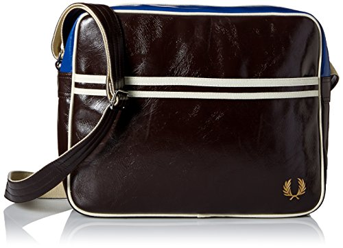 Fred Perry Tracolla Reporter Classic Shoulder Bag Cm 35x29x11 Approx. Chocolate