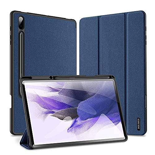 HaoHZ Funda para Galaxy Tab S7 FE 12.4'2021 (SM-T730 / T736) y Galaxy Tab S7 Plus 12.4' 2020 (SM-T970 / T975 / T976), Cubierta Trasera Suave con Reposo automático/activación y Soporte para S Pen,Azul