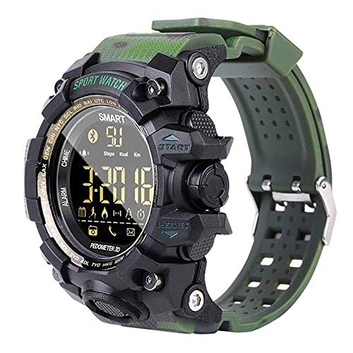 MRMRMR Outdoor-Sportuhr für Herren, intelligente Uhr, wasserdichte Bluetooth-Uhr Wasserdicht Smartwatch für Herren Damen