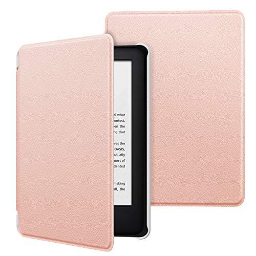 MoKo Funda Compatible con Kindle 10th Generation 2019 Release (Modelo No J9G29R), Ultra Delgada Ligera Smart-Shell Soporte Cover Case (No para Kindle Paperwhite) - Oro Rosa