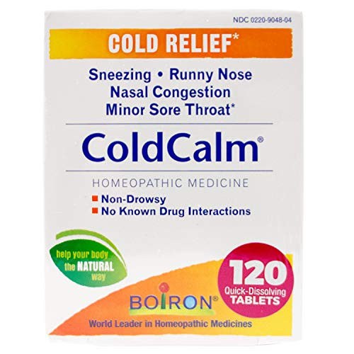 (14% OFF) Boiron Coldcalm Tablets for Cold Relief $15.30 Deal