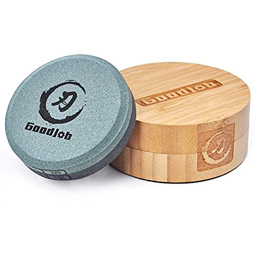 Axe Sharpening Stone Goodjob Premium Japanese Puck/Whetstone, Multi-Purpose Sharpener for...
