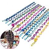 jjqhyc 12pcs ragazza hair styling twister clip braider, strumento per capelli a spirale bello colorata