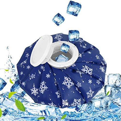 QcoQce Kühlbeutel, Befüllbar Eisbeutel Wärmflasche,Geeignet für Knie, Schulter, Kopf und Sportverletzungen Wiederverwendbar Kühlbeutel für Kinder und Erwachsene (M, Schneeflocke)