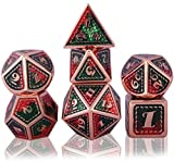 Schleuder Dados de rol Dungeons and Dragons, Dice Set Metal Zinc...