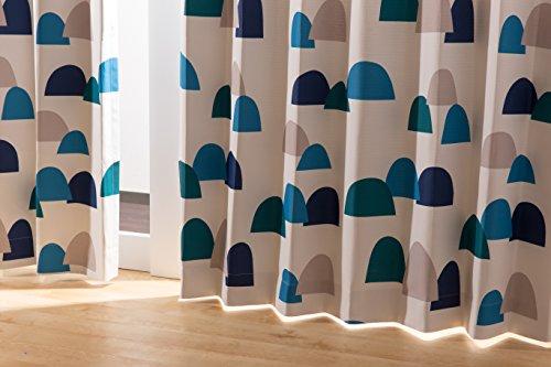 ナイスデイ IN-FA-LA 北欧デザイン 遮光カーテン 枚組(遮熱 保温 形状記憶) 100×00cm ブルー 487460