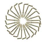 50 Stück L Haken Schraube verkupfertem Gold Metall Schraubenhaken mit