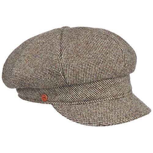 Mayser Classic Tweedy Balloncap Ballonmütze Damencap Wintercap Wollcap Wollmütze Mütze Damenmütze Schirmmütze (S (55-56 cm) - beige-meliert)