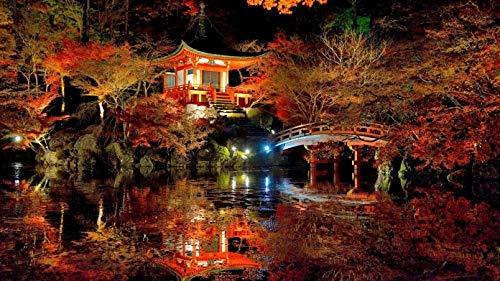 Rompecabezas 1000 Piezas Para Adultos Precioso Jardín Japonés Ocio Juguetes Para Niños Decoración Del Hogar Regalos De Arte