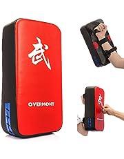 Overmont PU Leather Slagkussen Kickschild Handpratzen Trainingspratzen Boxzak voor kickboxen Thaiboxen Karate UFC MMA