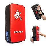 Overmont Taekwondo Kick Pad Boxing Karate Pad PU Leather Muay Thai MMA Martial Art Kickboxing Punching Bag Kicking Shield Training (1PC)