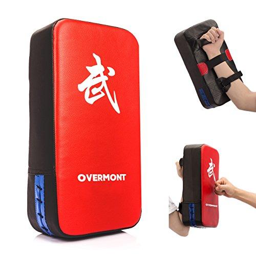 Overmont PU Leder Schlagpolster Schlagkissen Kickschild Boxpads Boxsack für Kickboxen Thaiboxen Karate UFC MMA 40cm*20cm*10cm