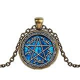 Supernatural Halskette mit Anhänger für die Jagd, Familie, Geschäft, Dean Winchester Sam Kristallglas