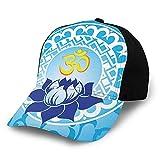 Gorra de béisbol para el sol, diseño oriental con pétalos de flor de loto, con estampado de pétalos de flor de loto, color morado y morado