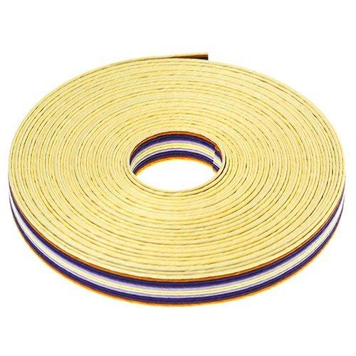 Ruban de métier artisanal écologie artisanale crème x violet x orange 199 m Largeur d'enroulement 15 mm