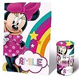 Disney Minnie Manta Polar 150x100CM, Rosa, 150100