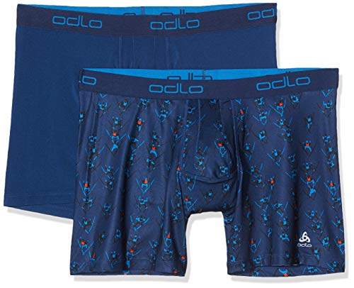 Odlo Active Everyday Boxer pour Homme XXL Bleu Estate - AOP FW19 - Bleu Estate