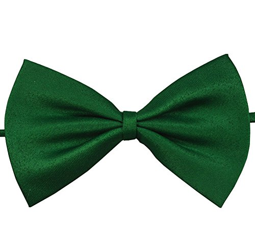Demarkt Homme Nœuds Papillon Tie Ajustable pour Cérémonie Mariage Soirée Busines Pure Couleur Couleur Solide (DG)