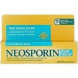Neosporin Plus Pain Relief, Maximum Strength, First Aid Antibiotic Cream 0.5 oz (Pack of 12)