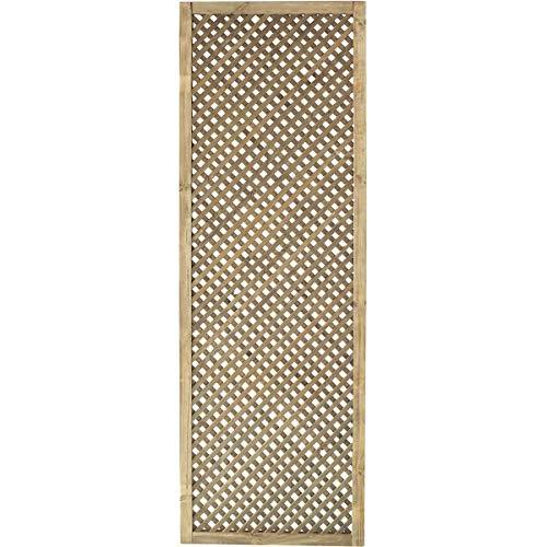 Forest Style Treillis- 60 cm x 180 cm - epaisseur 3cm - Bois traité Classe 3 - Clematite