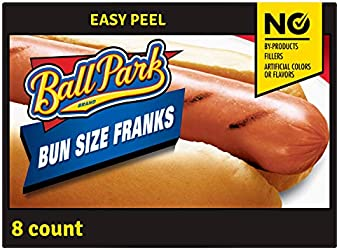 Ball Park Classic Bun Size Hot Dogs, 8 Count