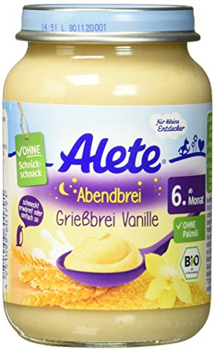 Alete Abendbrei Grießbrei Vanille, 190 g
