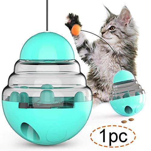 MWbetsy Juguete Interactivo para Gatos Bola de Comida para Gatos Alimentador Lento Vaso con Forma de dispensador de Comida para Mascotas Juguete de Rompecabezas - 1pc