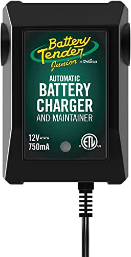 Battery Tender Junior 12V, 750mA Battery Charger and Maintainer: Automatic Powersports Battery Charger for Motorcycle...