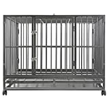 SmithBuilt 36' Medium Heavy-Duty Dog Crate Cage - Two-Door Indoor...