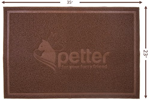 Petter Extra Large Cat Litter Mat - Best Non-Slip, Non-Toxic, Extra-Durable & Dust-Free Kitty Scatter Control System-Traps Crystal, Clumping, Other Litter from Box-Soft On Sensitive Kitten Paws