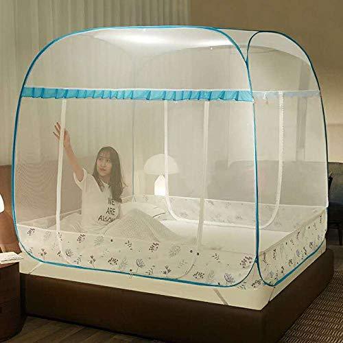 LLSTRIVE Moskito Schutz-Zelt,Dreitürige Gaze, frei von Moskitonetzen, starker Mückenschutz @ Sky Blue_1.5M