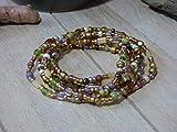 Bau[m]werk Handmade in Germany Armband Toho Glasperlen Perlen Handarbeit Wickelarmband Schmuck grn braun gold Hippie Boho Ibiza Style Kette