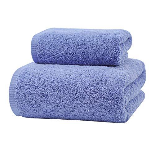 ZJM Juego de Toallas Algodón Peinado Calidad,Toallas de baño de algodón,1 * Toalla + 1 * Toalla de baño,Juego de Toallas de baño