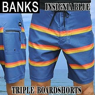 BANKS/バンクス TRIPLE BOARDSHORTS INSIGNIA BLUE 男性用 サーフパンツ ボードショーツ サーフトランクス 海パン 水着 メンズ [並行輸入品]