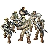 YEIBOBO ! Special Forces Mini Military Action Figure with Weapons and Accessories (Desert Eagle Team XJ-9904)