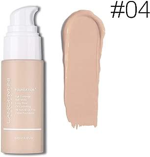Langmanni Makeup Foundation Liquid Natural Concealer Brighten Skin Color Waterproof Sweatproof cosmetic Concealer (#04 Buff Beige)