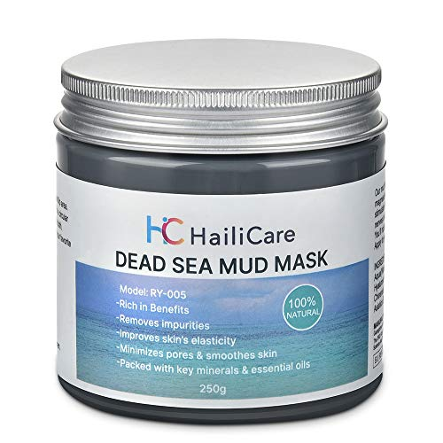 SKINER Dead Sea Mud Mask for Acne, Oily Skin, Blackheads, Whiteheads, Natural Spa Skin Care Infused With Minerals & Essential Oils for Face and Body, 8.8 oz