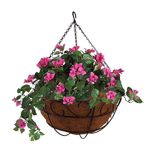 MTB Garden Hanging Planter Baskets 16' S Style with Coco-Liner, Pack of 4,Hanging Planter Plant Hanger Hanging Flower Basket Chain Basket and Plant Growers for Home Balcony Patio Decoration