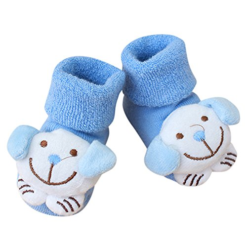 LEXUPE Karikatur-Neugeborene Kind-Baby-Jungen-rutschfeste warme Socken-Pantoffel-Schuh-Stiefel(E,Free Size)