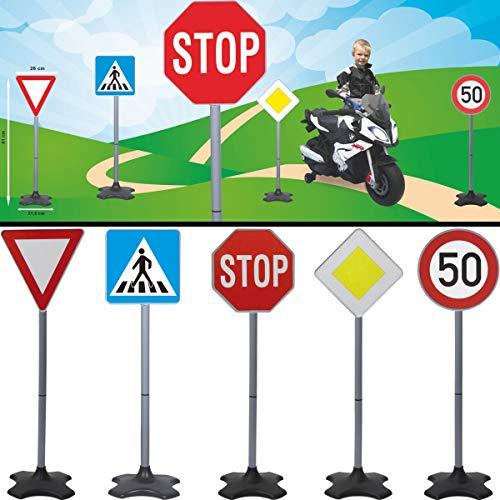Verkehrszeichen / Verkehrsschilder Set Spielzeug Ampel Schilder Kinder Verkehrserziehung (Set A)