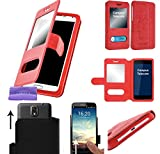 CAMPUS TELECOM Etui Housse Pochette Coque Universelle Rouge pour ALCATEL Pop 4 alcatel pixi 4 6' Pop 4 Plus A3xl a7 XL, vodafone...