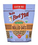 Bob's Red Mill Gluten Free Organic Thick Rolled Oats- 32 ounce (Pack of 4)