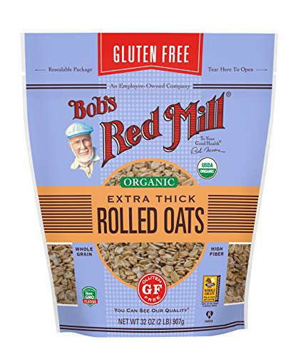 Bob's Red Mill Gluten Free Organic Thick Rolled Oats, 32 Oz