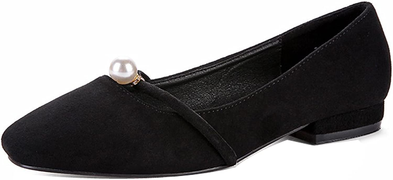 Ladola Womens Casual Slip-Resistant Beaded Comfort Microfiber Pumps shoes