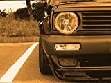 Grill Spoiler Headlight Euro Hood Trim Eyelid Eyebrow for VW Golf Jetta MK2 2 GTI
